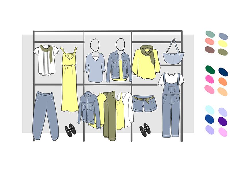 Paredes: geometría, color, volumen y peso en visual merchandising